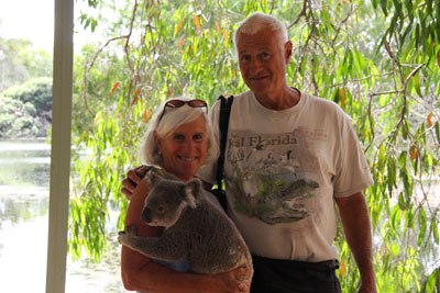 Debby and Charlie with Koala bear